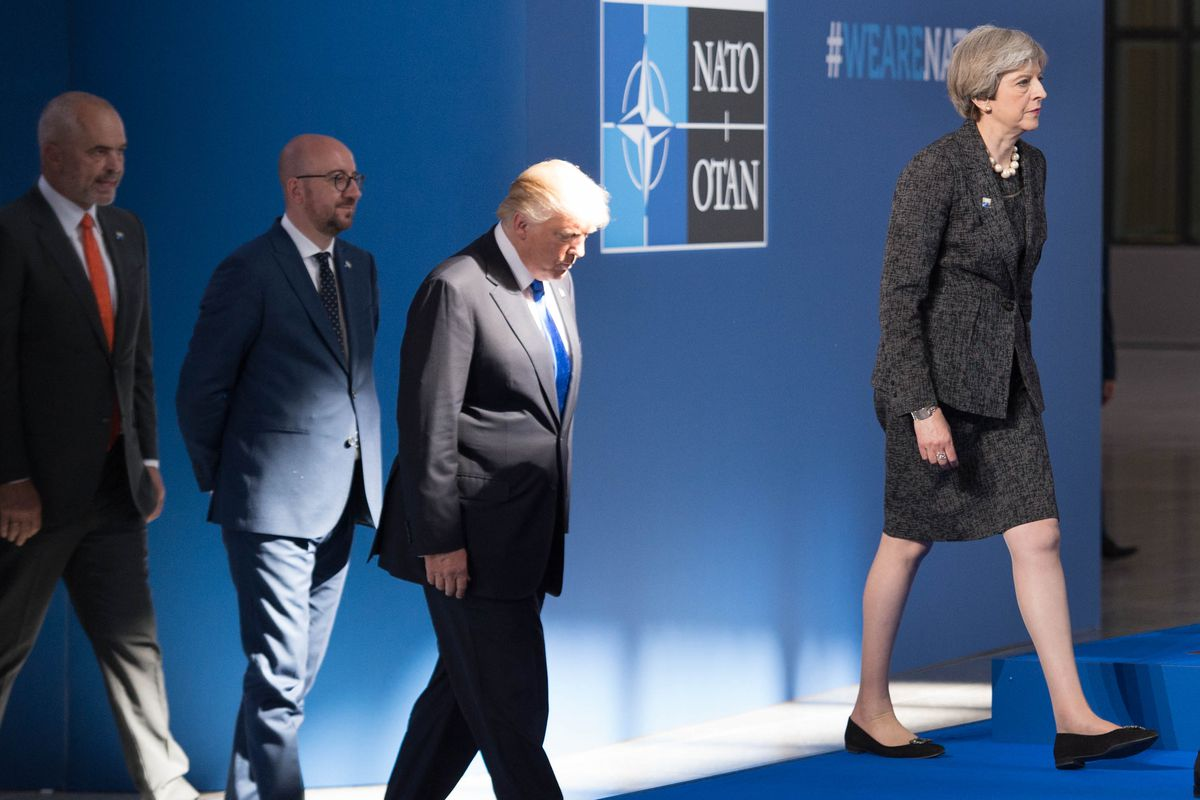 President Donald Trump is just not a fan of NATO.