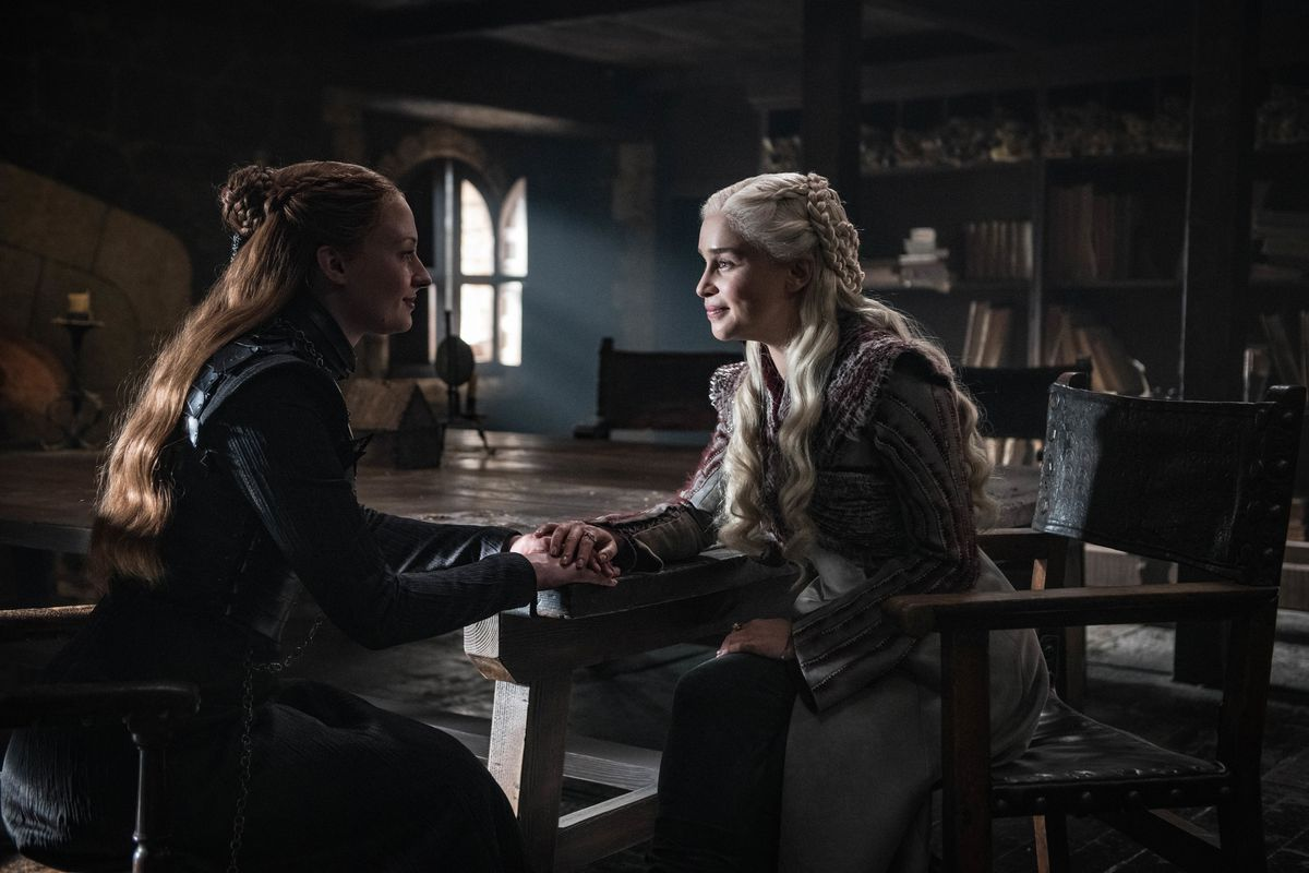 George R.R. Martin won't say whether he'll give heroine Daenerys Targaryen (above, right, played by Emilia Clarke) the same ending the character got in HBO series.