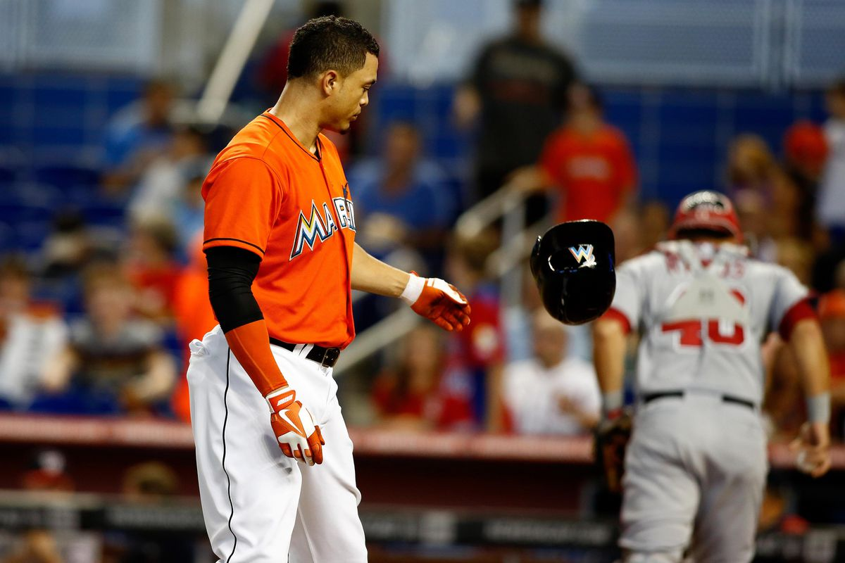 Giancarlo Stanton and the Miami Marlins have been doing a lot of failing at the plate in the last four games.