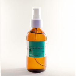 Limegreen hair, face, body, and hand oil, $24