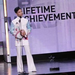 Prince wearing prince at the BET Awards in 2010.