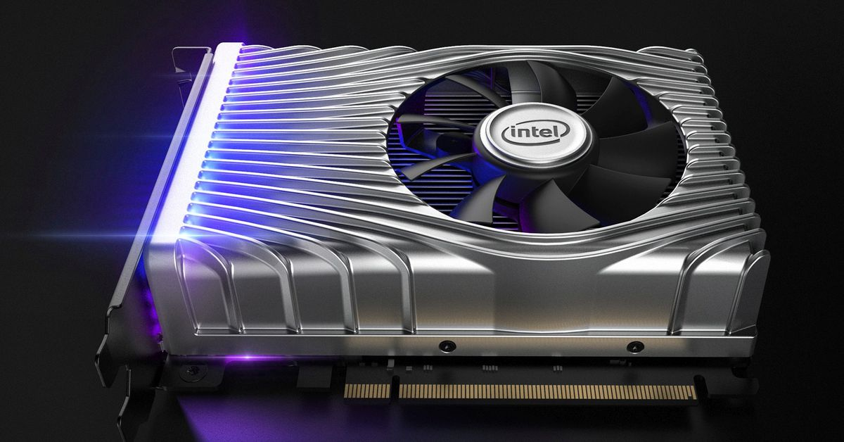 This is Intel's first discrete graphics card, but you can't buy one