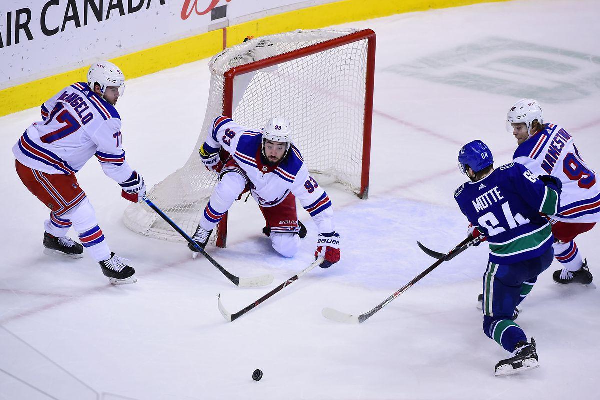 NHL: New York Rangers at Vancouver Canucks