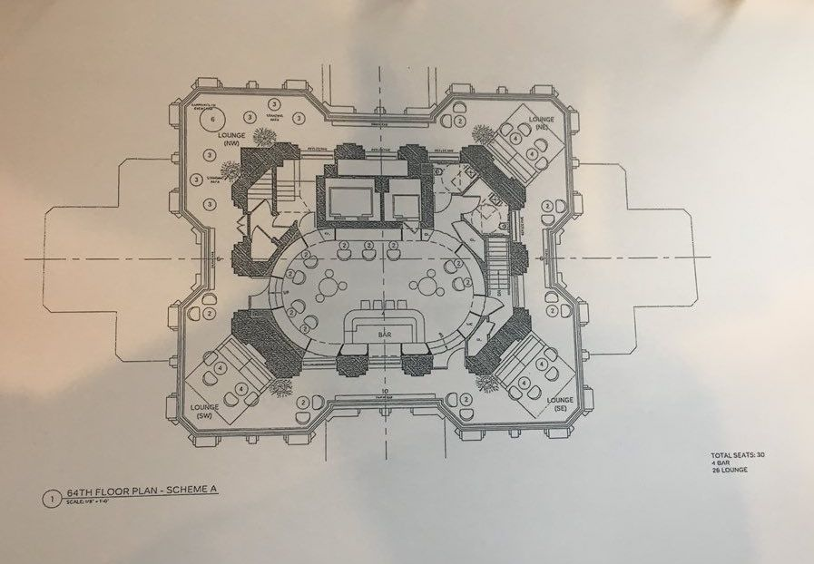 Proposed plan for 64th Floor