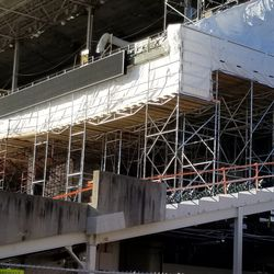 Closer view of lower deck in left field