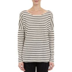"""<b>Vince</b> cashmere-blend sweater, <a href=""""http://www.barneyswarehouse.com/vince.-striped-cashmere-blend-sweater-503171300.html?index=15&cgid=clearance-whswclothing"""">$89.50</a>"""