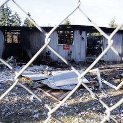 The home of Josh Powell in Graham, Wash., Tuesday, Feb. 7, 2012. Powell killed himself and his two young boys in an inferno after setting the house on fire.