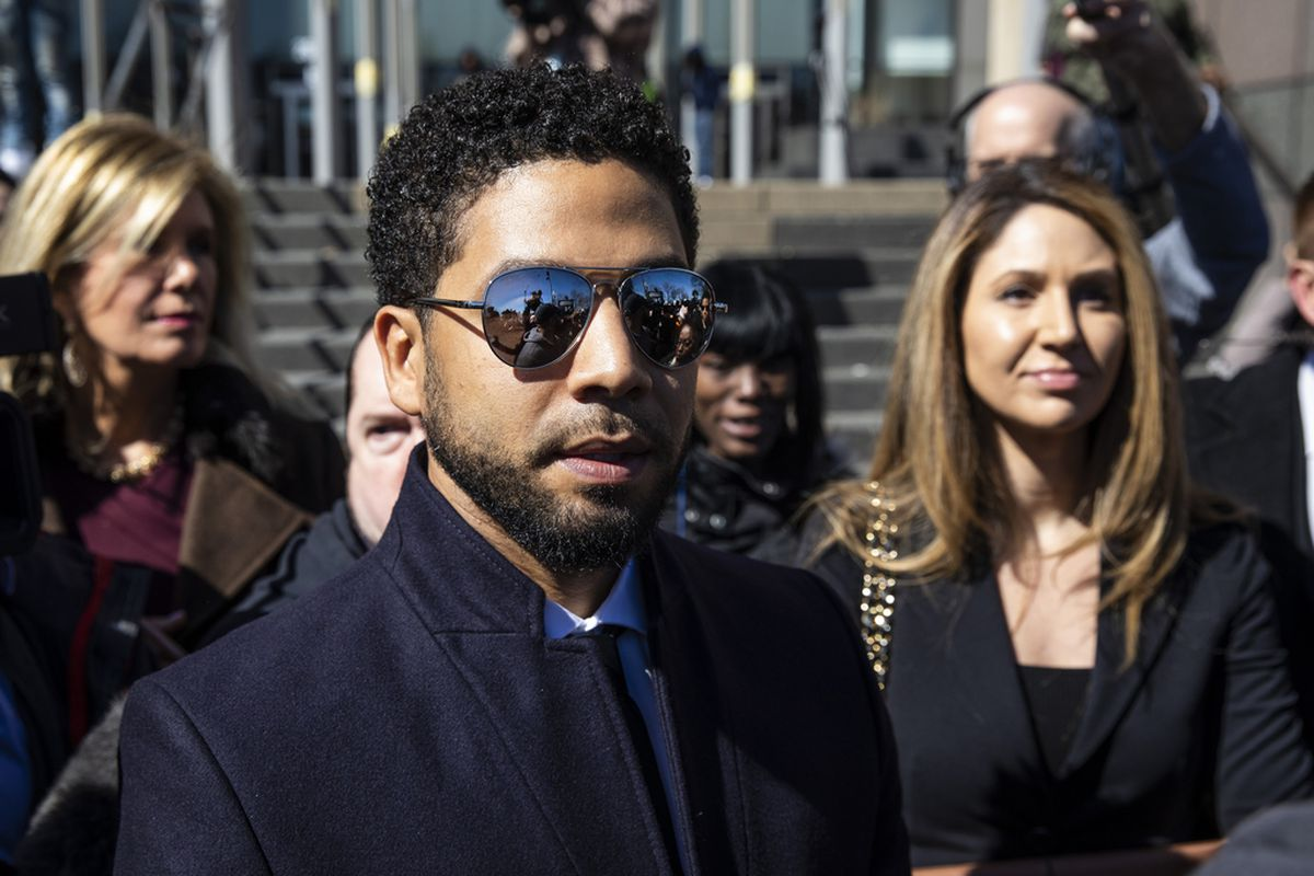 Jussie Smollett leaves court after charges were dropped against him. | Ashlee Rezin/Sun-Times