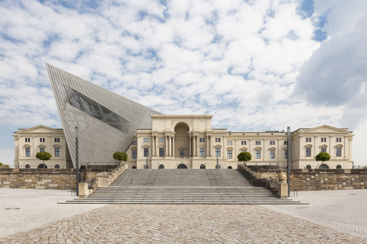 The Bundeswehr Military History Museum Of German Armed Forces Is Located In Dresden And Was Designed By American Architect Daniel Libeskind
