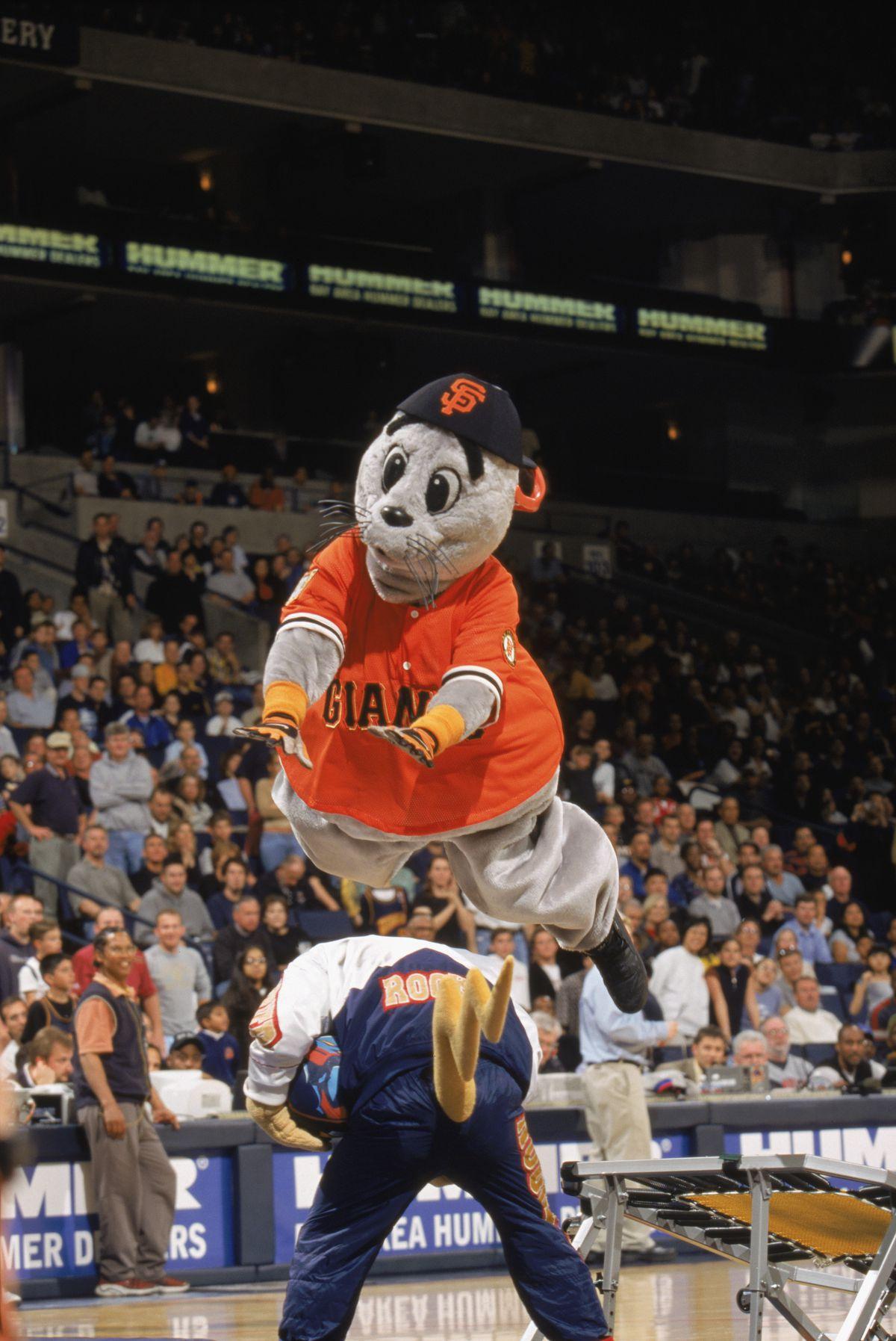 """San Francisco Giants mascot """"LOUSEAL"""""""