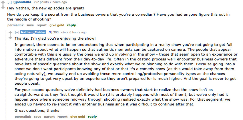 The 13 Best Answers from Nathan Fielder's Reddit AMA - Funny Or Die
