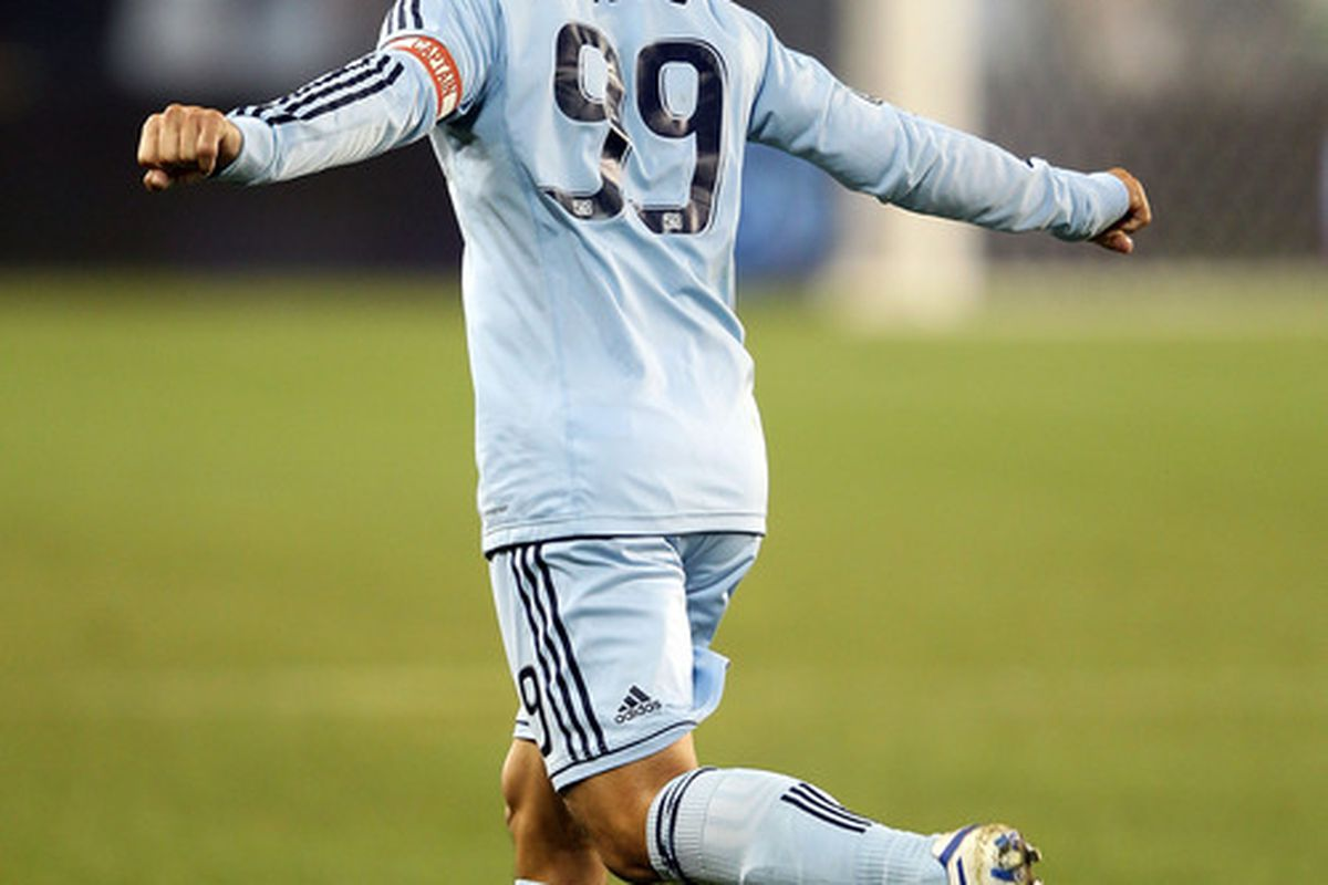 Omar Bravo is in the headlines once again. Gosh darn, those pesky rumors!  (Photo by Jamie Squire/Getty Images)