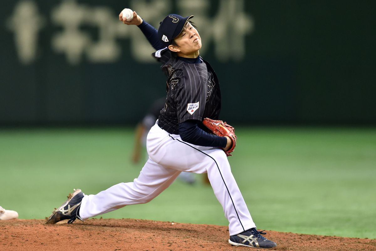 Takahiro Matsuba was tagged for five runs in three innings in his March 11 start vs. Team Europe in the Tokyo Dome.