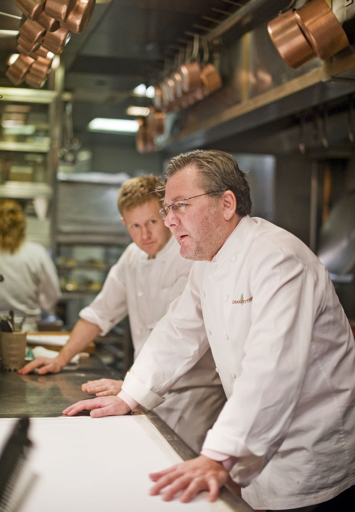 Chef Charlie Trotter in the kitchen and in the dining room of his restaurant at 816 W. Armitage Friday, Dec. 30, 2011.   Rich Hein~Sun-Times