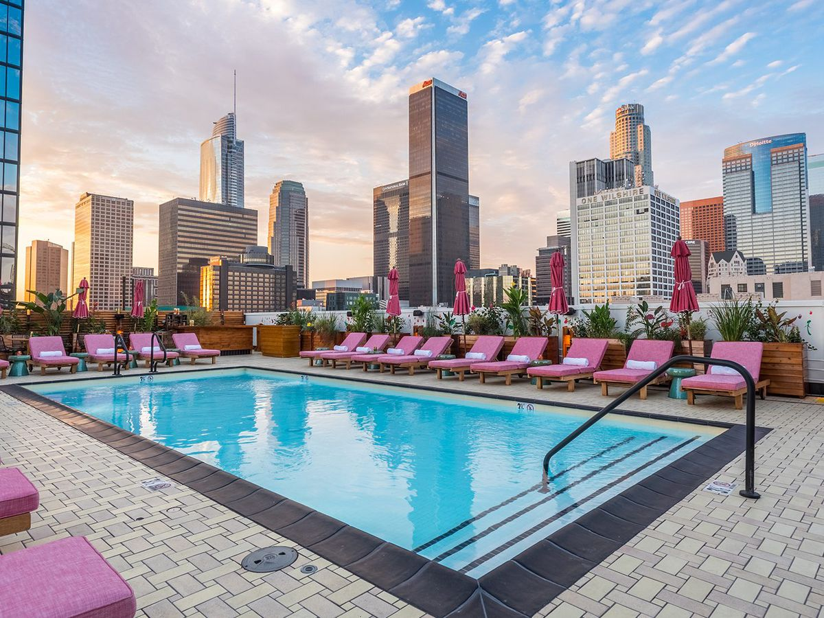 Rooftop pool at Freehand Hotel in Downtown