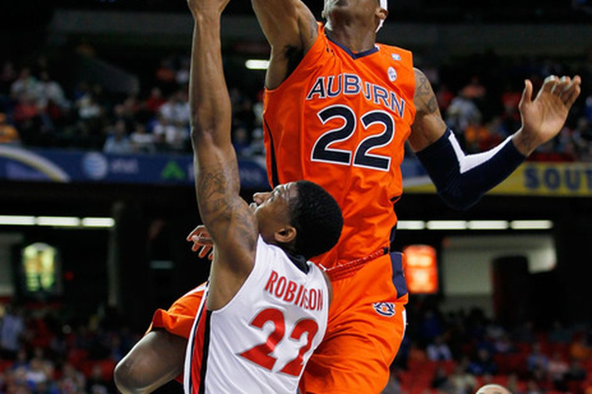 Kenny Gabriel #22, formerly of the Auburn Tigers, will be working out for the Nuggets today.