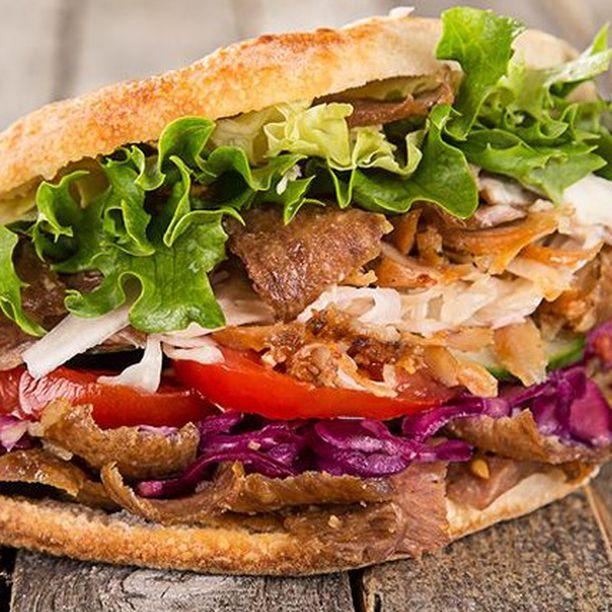 Stuffed pita at Pita, an Israeli restaurant in Golders Green, London