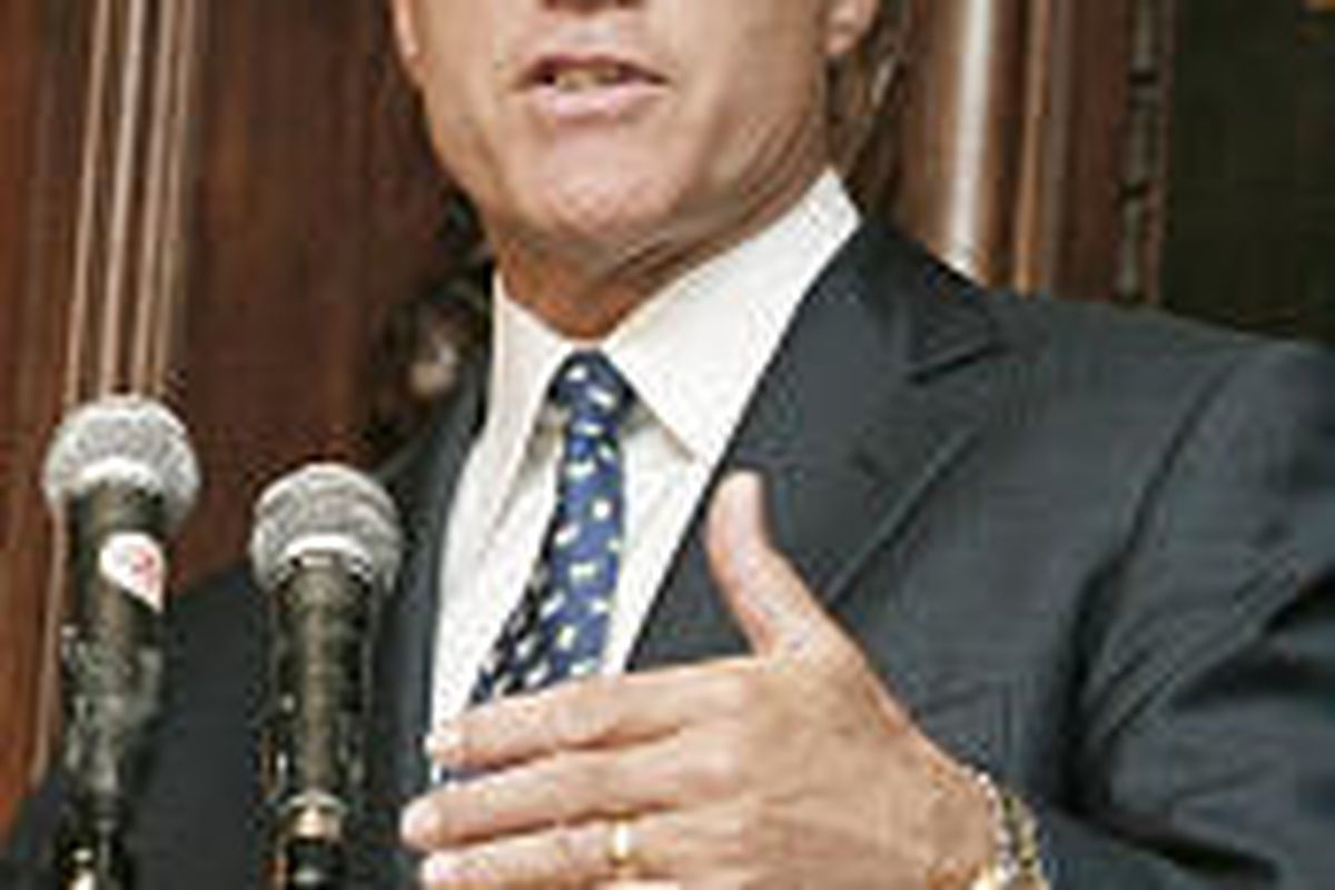 Gov. Mitt Romney, speaking to the Manhattan Institute Monday, called for more federal vigilance.
