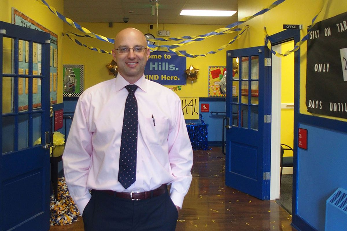 Achievement School District Superintendent Chris Barbic visits Georgian Hills Elementary, a Memphis school that the state-run district has operated since 2013.