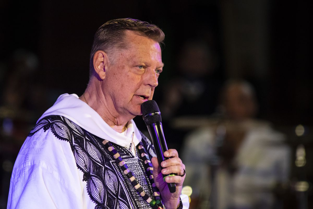 """Rev. Michael Pfleger, senior pastor of St. Sabina Catholic Church in Auburn Gresham, says the Rev. James W. Stein officiated mass """"on and off for a couple years"""" starting in or around 1990."""
