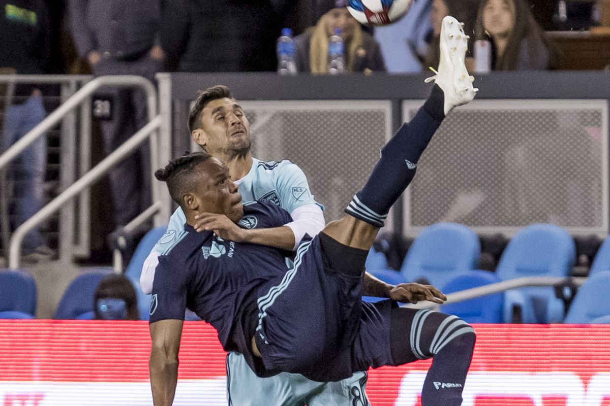 SOCCER: APR 20 MLS - Sporting Kansas City at San Jose Earthquakes