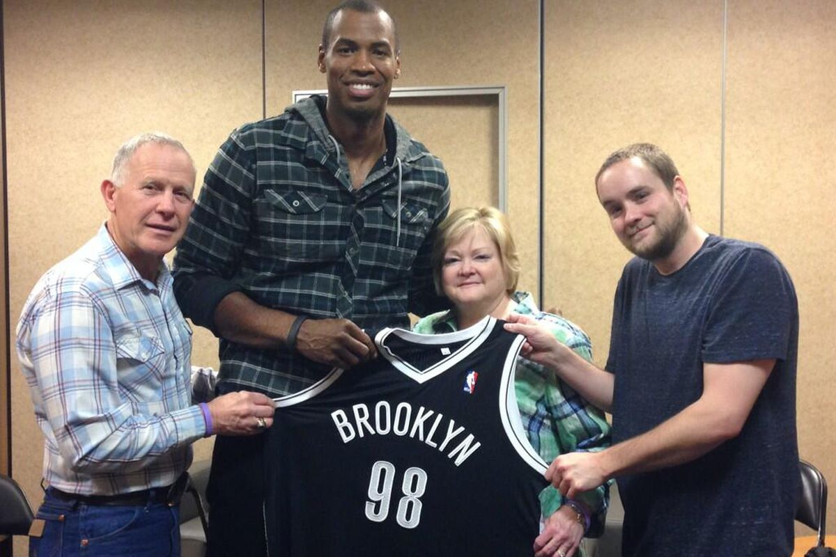 Jason Collins with the Shepard family