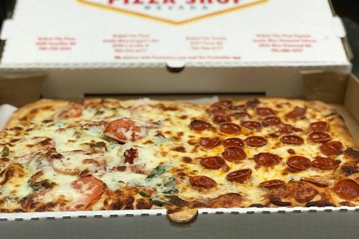 A square pizza