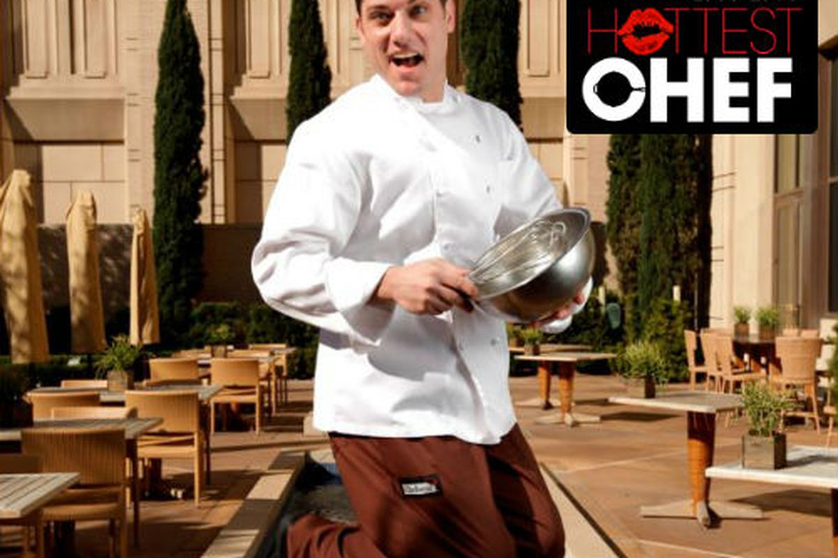 Eric Dreyer, the Hottest Chef in Dallas, jumps for joy.