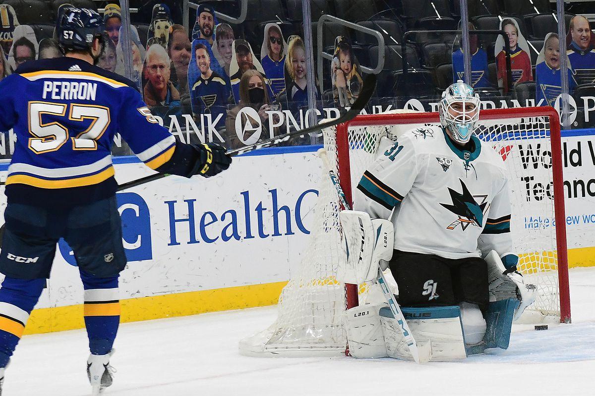 NHL: FEB 18 Sharks at Blues