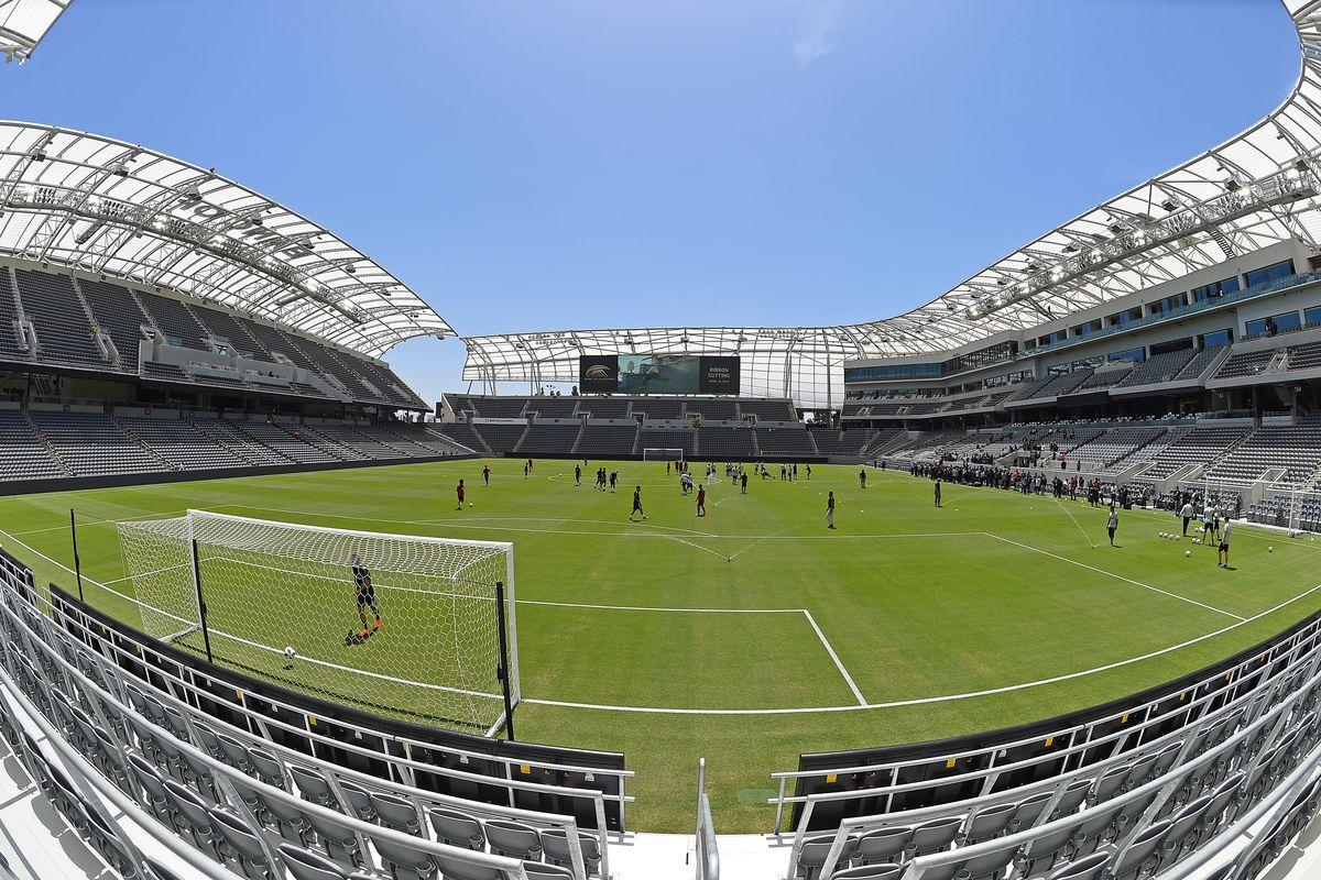 Los Angeles FC Hosts Banc Of Califorina Stadium Ribbon Cutting And Stadium Tour