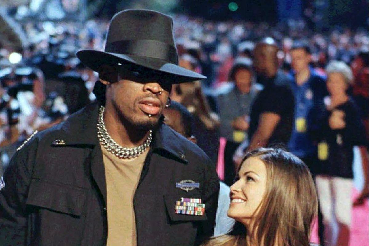 """Dennis [Rodman] was considered the bad boy of basketball,"" Carmen Electra said, ""and I like bad boys."""