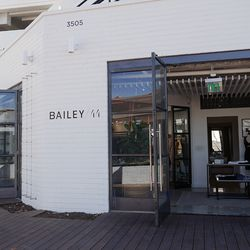 Bailey44's 1,700-square-foot shop stocks its full collection of contemporary womenswear, including reworked denim.