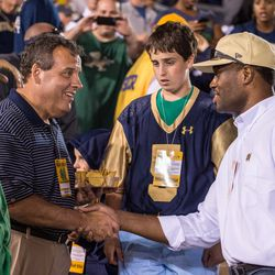 Chris Christie, The Admiral, and a kid with a thousand-yard stare