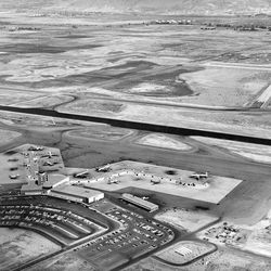 The Salt Lake Municipal Airport is pictured on Sept. 19, 1962.