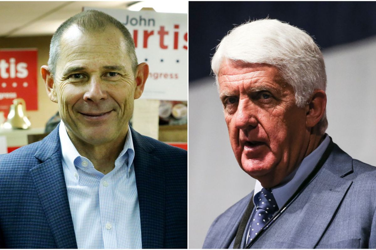Republican Reps. Rob Bishop (right) and John Curtis (left) are far ahead of the competition for their seats in Congress, according to the latest UtahPolicy.com poll.