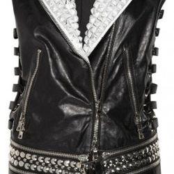 Studded leather gilet<br /><br />Original price: $8,160<br />NOW $1,632<br />80% OFF