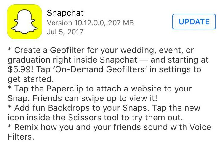 Snapchat ahora te permite enviar links a tus amigos
