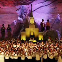 Youths perform during the cultural celebration for the Star Valley Wyoming Temple in Afton, Wyoming, on Saturday, Oct. 29, 2016.