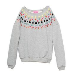 """<strong>Beautifully</strong> Jewel Sweatshirt, <a href=""""http://miramirasf.com/collections/all/products/jewel-sweatshirt"""">$68</a> at Mira Mira"""