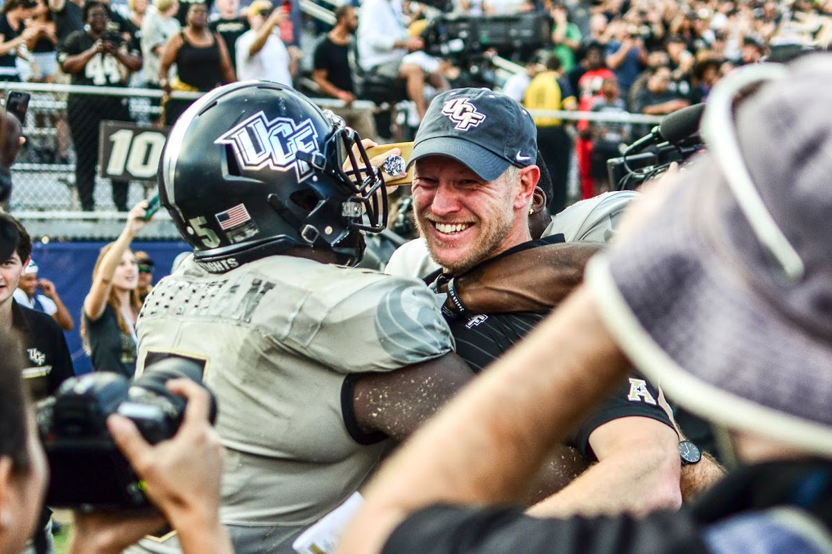 Scott Frost has brought the two remaining coaches from UCF's 2017 staff, Troy Walters and Sean Beckton, to Nebraska. (Photo: Derek Warden)