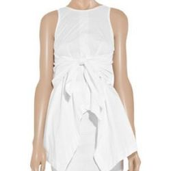 "<a href=""http://www.theoutnet.com/product/242090"">Cotton-blend handkerchief dress</a>, $222.50 (was $445)"