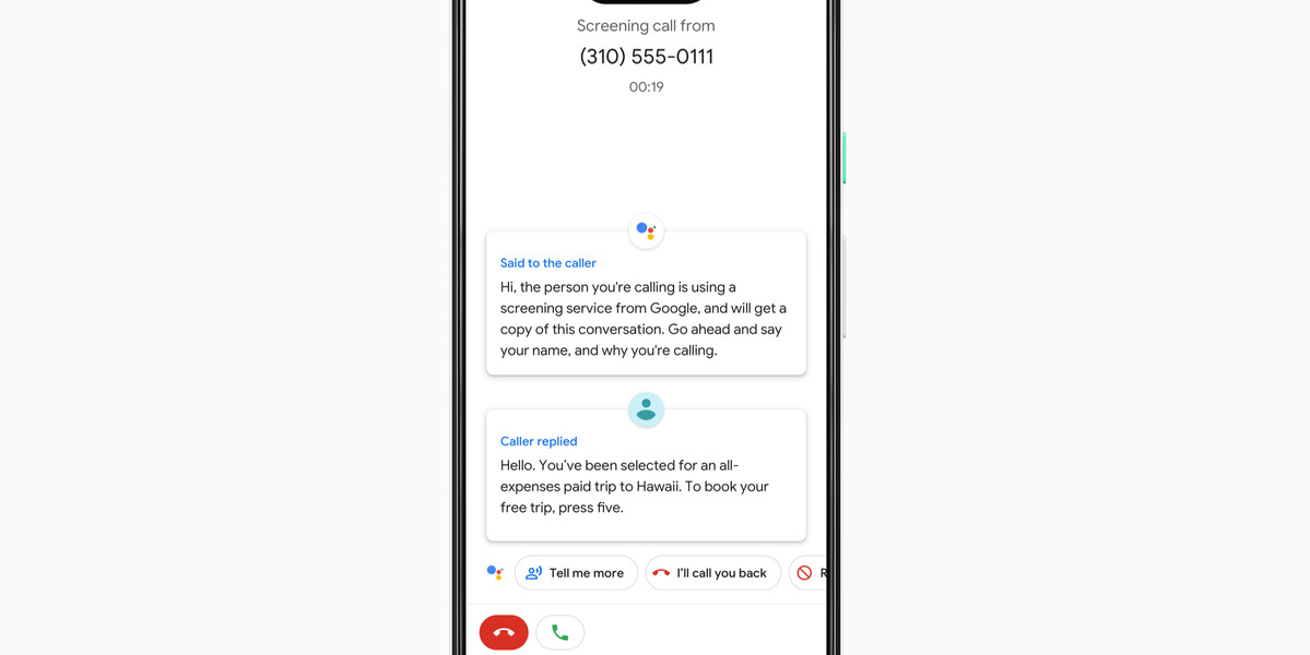 Google Assistant will screen spam calls on the Pixel 3 - The