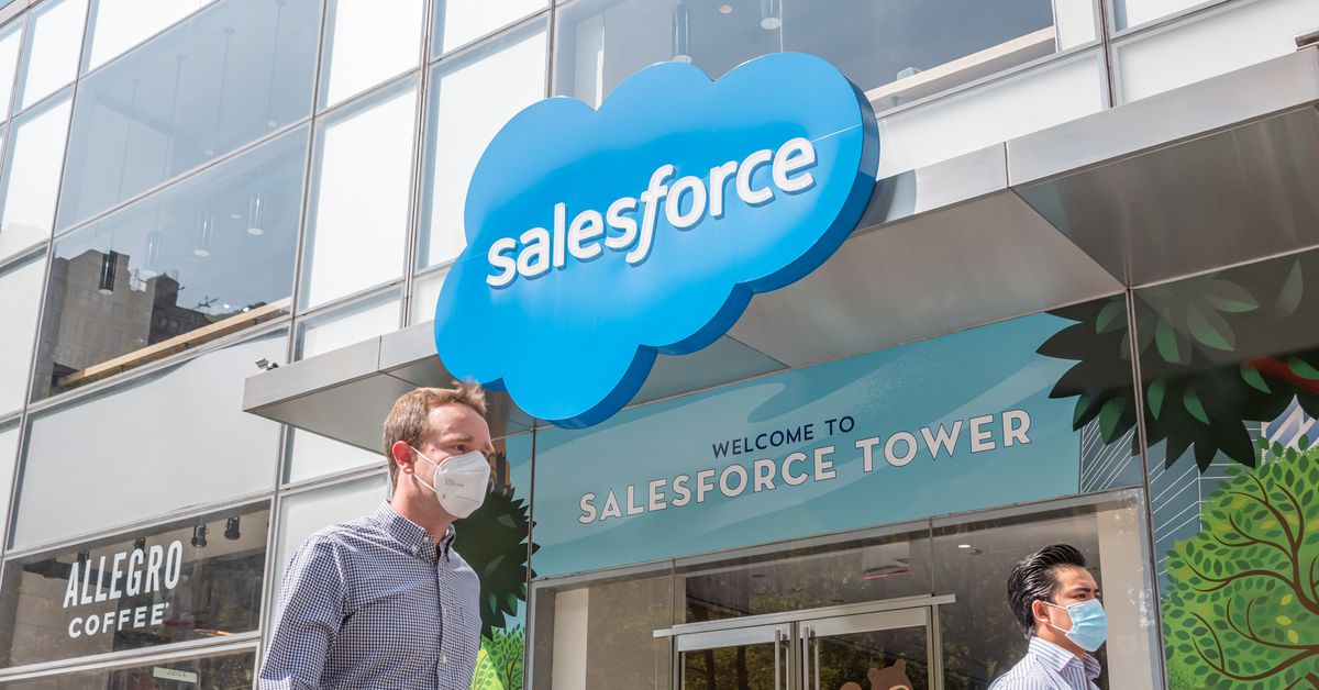 """Salesforce says """"the 9-to-5 workday is dead"""" and that after the pandemic most staff will work a flex schedule, going into the office 1-3 days per week"""