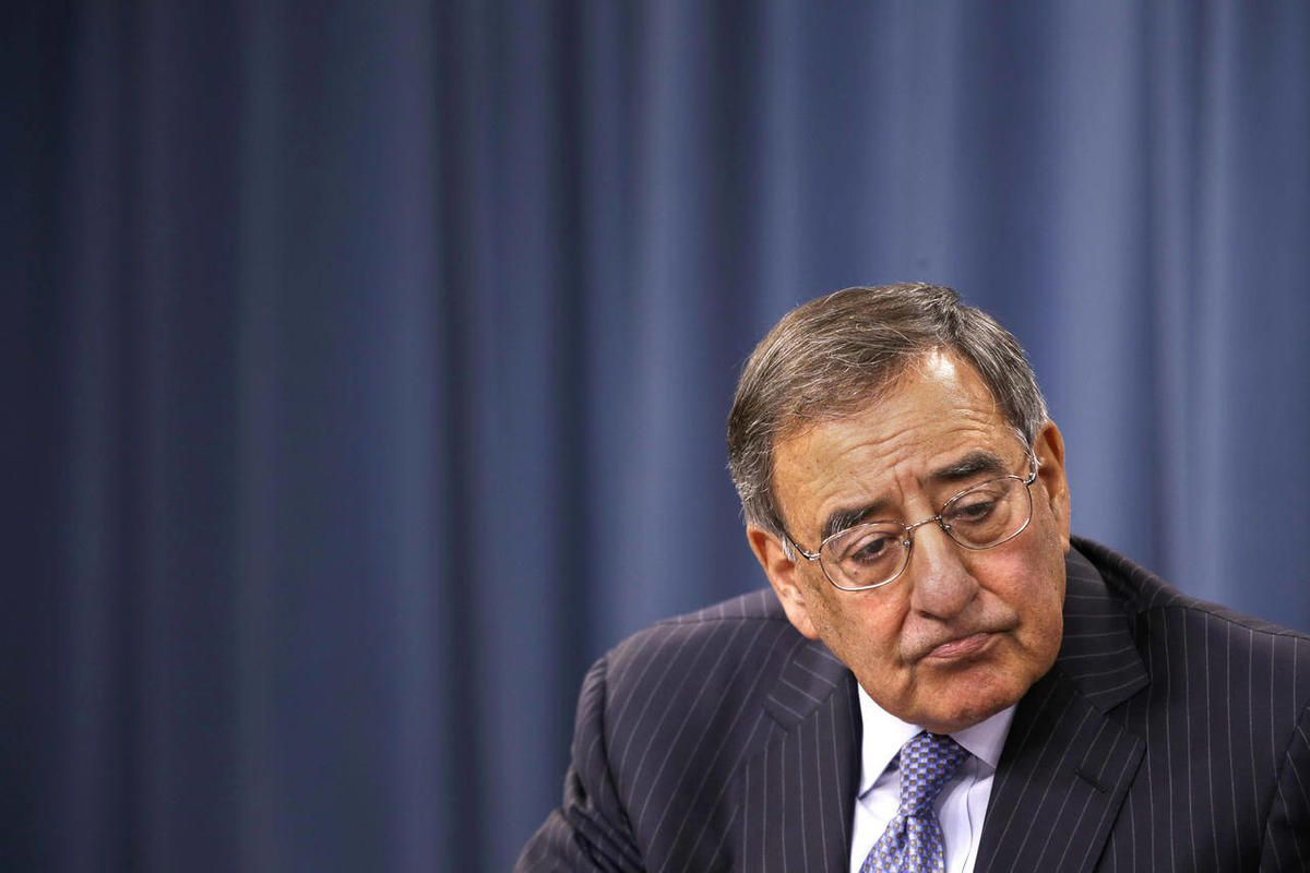 Defense Secretary Leon Panetta listens to a question duirng at a news conference at the Pentagon, Thursday, Sept. 27, 2012.