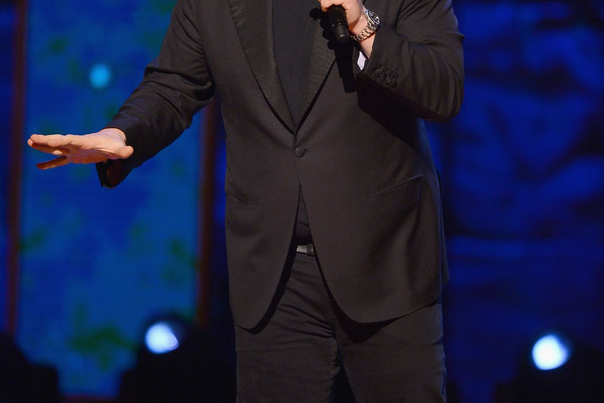 NEW YORK, NY - FEBRUARY 28:  Louis C.K. performs on stage at Comedy Central Night Of Too Many Stars at Beacon Theatre on February 28, 2015 in New York City.  (Photo by Stephen Lovekin/Getty Images for Comedy Central)