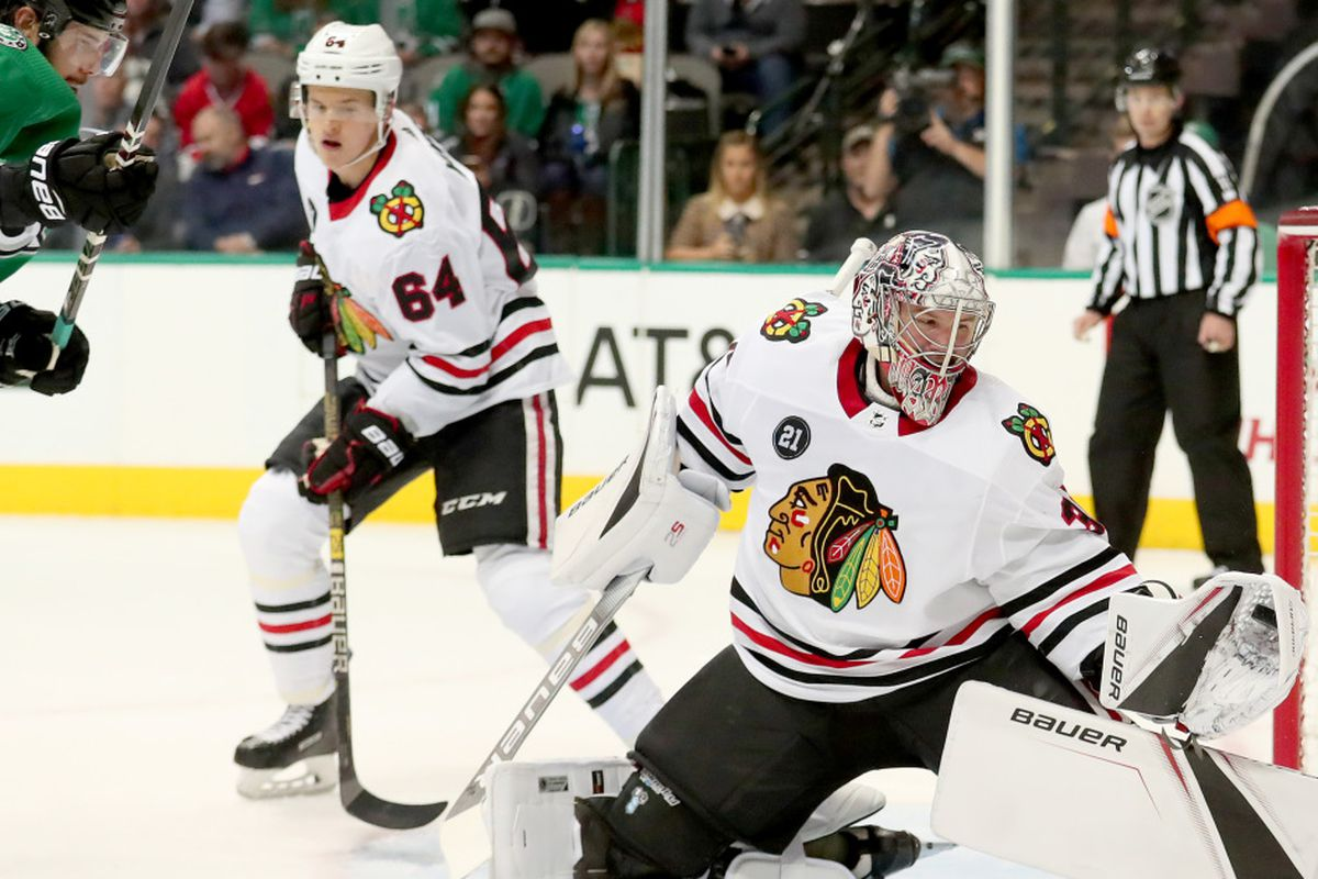 40936e01733 2019 NHL Winter Classic: Goalie Cam Ward starts for Blackhawks against  Bruins