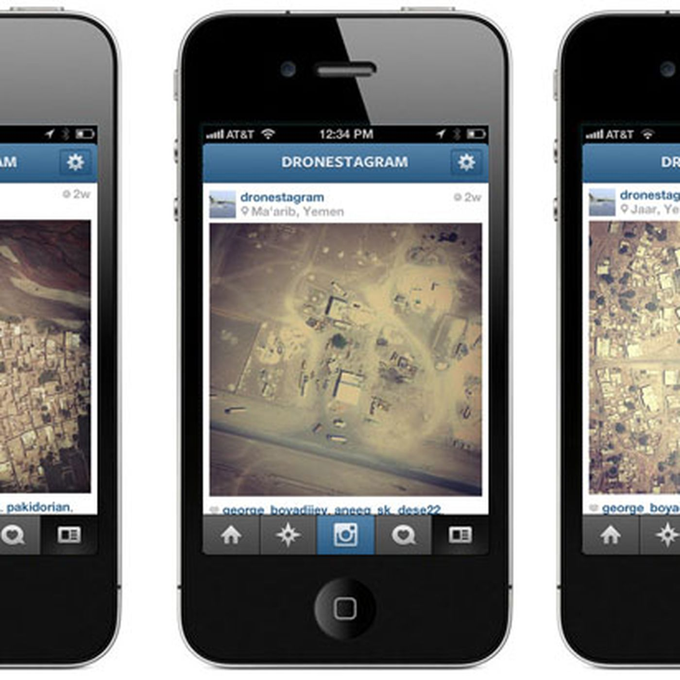 Dronestagram Filters Satellite Photos Of Us Drone Strikes For