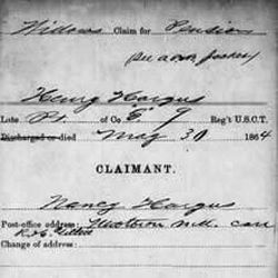 A widow's pension claim from the archives of the Freedmen's Bureau that was organized near the end of the American Civil War to assist newly freed slaves in 15 states and the District of Columbia. The LDS Church, FamilySearch.org, the Smithsonian and other groups are partnering to on a project to recruit volunteers to index 1.5 million records from the Freedmen's Bureau archives through discoverfreedmens.org. The goal is to digitize all of the records and make them searchable online within nine months.