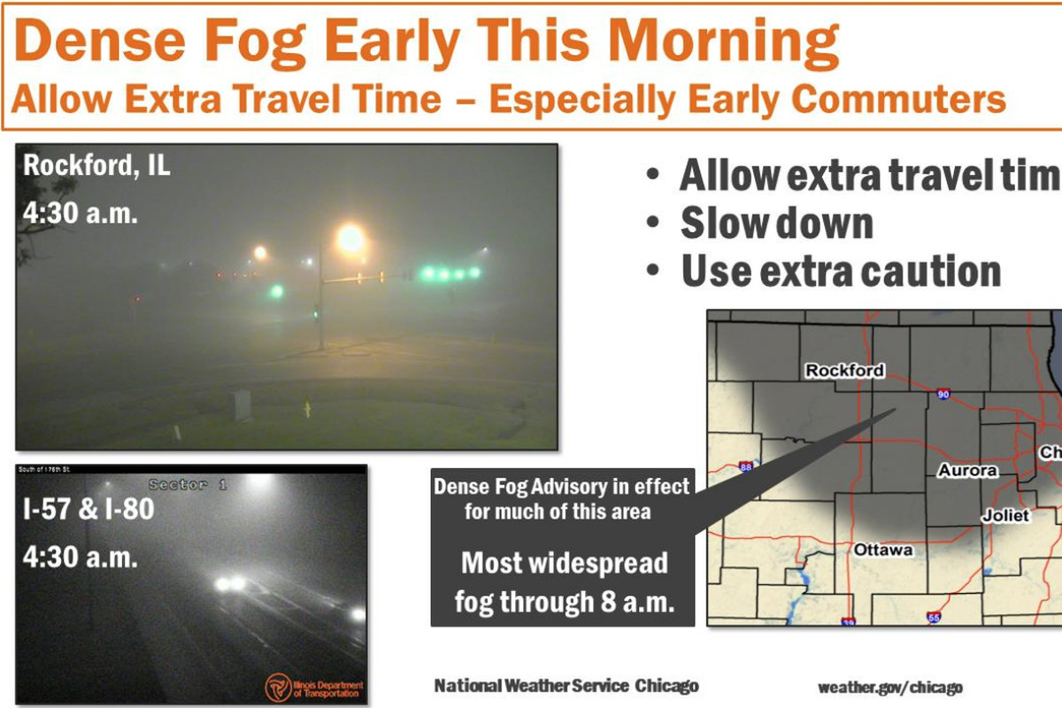 Morning commute expected to be foggy.
