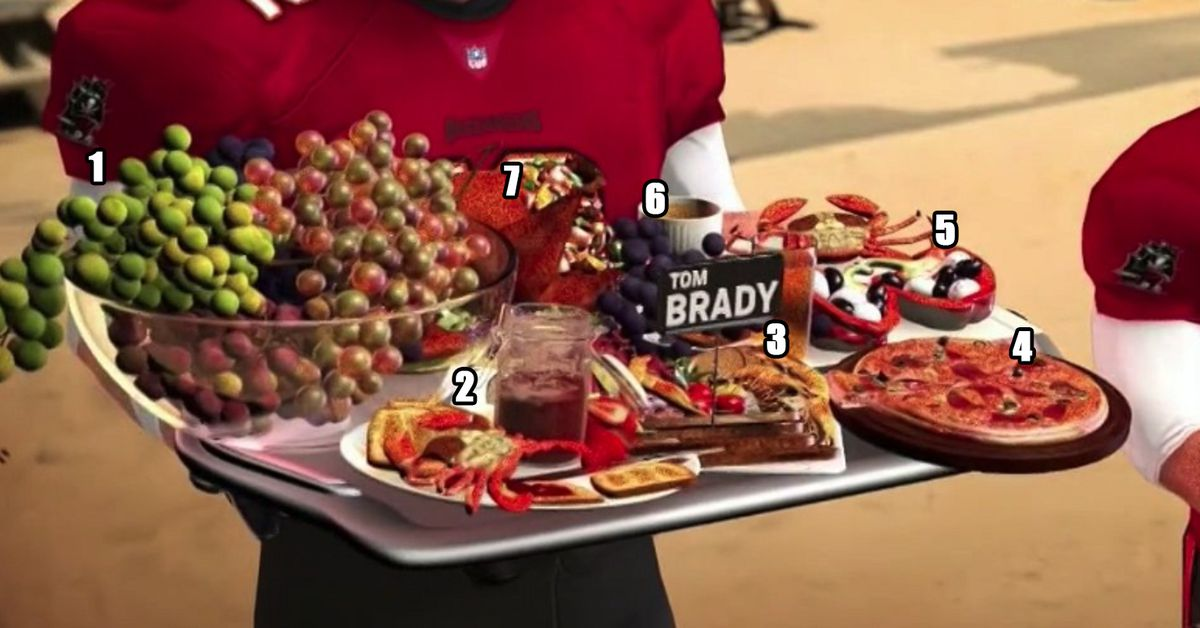 What the hell was Tom Brady eating in this 'Sunday Night Football' graphic? thumbnail